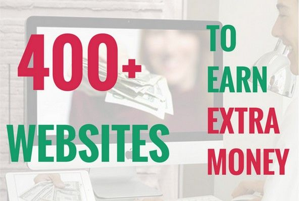 Over 400 websites you can use to make extra money for free.