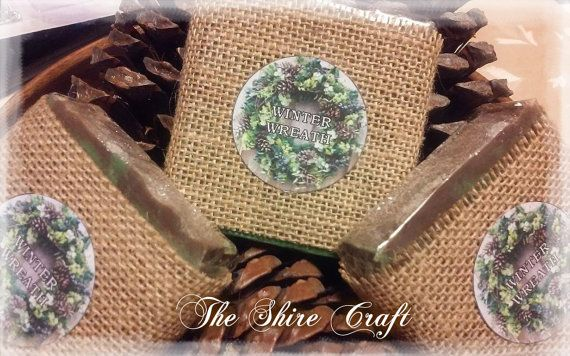 Winter Wreath Soap  Natural Handcrafted Soap by TheShireCraft