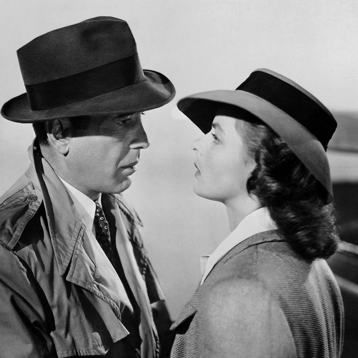 Humphrey Bogart and Ingrid Bergman in Casablanca (1942).