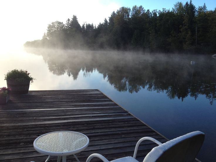 At the dock - September morning - #Meech Lake