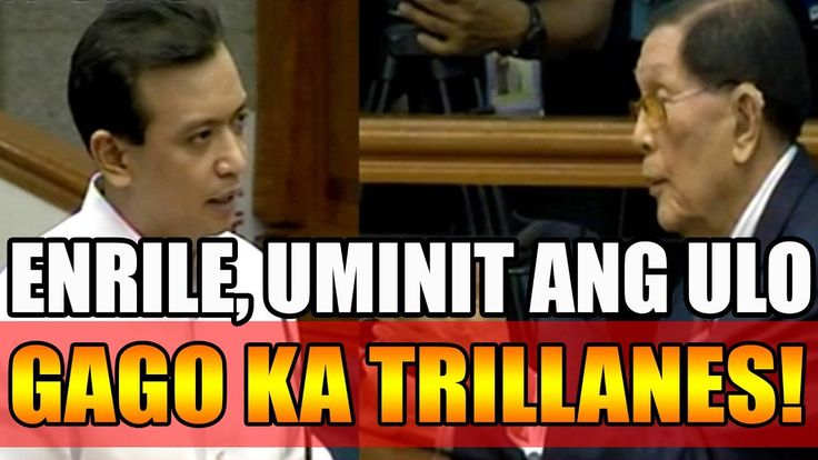 ENRILE, GALIT NA GALIT KAY TRILLANES SA PANUNUHOL NITO PARA PABAGSAKIN SI PRES. DUTERTE! - WATCH VIDEO HERE -> http://dutertenewstoday.com/enrile-galit-na-galit-kay-trillanes-sa-panunuhol-nito-para-pabagsakin-si-pres-duterte/   Please SUBSCRIBE AND SHARE for more Current News Updates live videos: Just Click the Link Below 🙂 Please READ and FOLLOW our DUTERTE TRACKER BLOG –  News video credit to YouTube channel owners  Disclaimer: The views and opinions expressed in