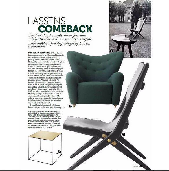 Swedish interior magazine @residencemag featuring the comeback of the Lassen brothers! #bylassen #thetiredman #saxe #mogenslassen #flemminglassen