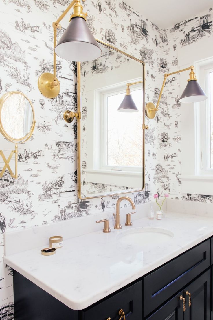 Modern gold and brass fixtures for the bathroom apartment therapy - House Tour A New Yorker Transforms A 1890s Michigan House Apartment Therapy
