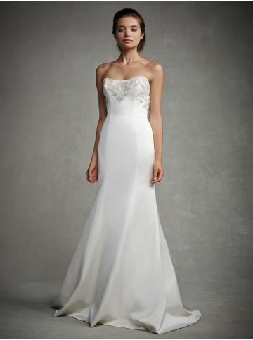 Kyrka Taft Applikation Bröllopsklänningar 2015