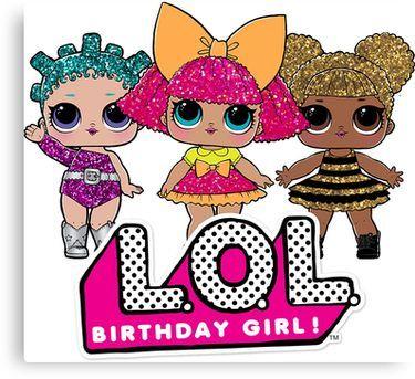 Lol Surprise Dolls Birthday Girl Canvas Print Products