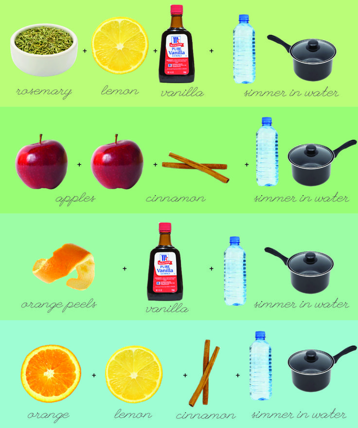 DIY: fantastic stovetop popurri recipes!