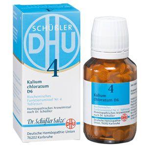 Das Schüssler Salz 4 (Kalium chloratum) ist ein Schleimhautmittel und gilt als das Salz der zweiten Entzündungsphase.