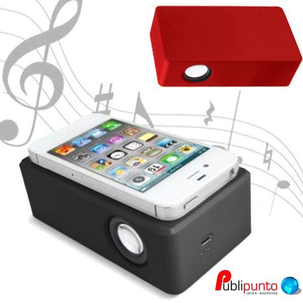 ¡Nuevo #altavoz portátil por inducción para móviles!  Sin cables, sin conexión bluetooth o wifi y con un escaso consumo de batería.  ¡Muy cómodo y práctico para llevarte la música a cualquier sitio! ♫♪