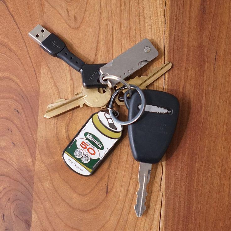 Beercan Keychain
