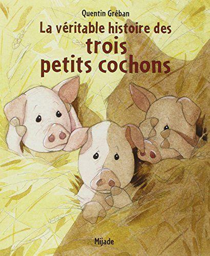 La véritable histoire des trois petits cochons de Quentin Gréban http://www.amazon.fr/dp/2871426937/ref=cm_sw_r_pi_dp_Ihl0wb1DNBA6W