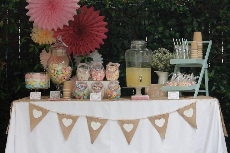 decoración mesa dulce comunión bautizo