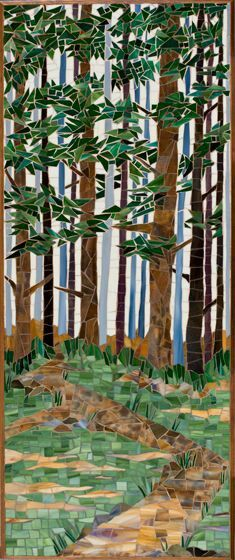 Stained glass mosaic Forest.