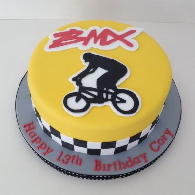 BMX theme birthday cake                                                       …