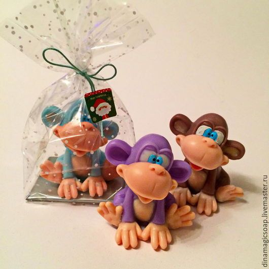 Мыло ручной работы. Ярмарка Мастеров - ручная работа. Купить Мыло 3 d символ 2016 года  Забавная обезьянка. Handmade.