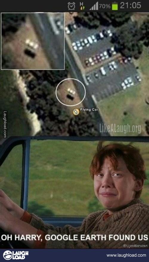 :) Google earth found us!
