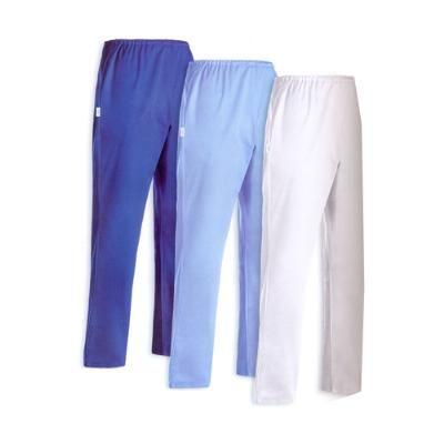 Pantalone Infermiere con tessuto 100% cotone. Disponibile nei colori: BIANCO, BLU ROYAL, AZZURRO.