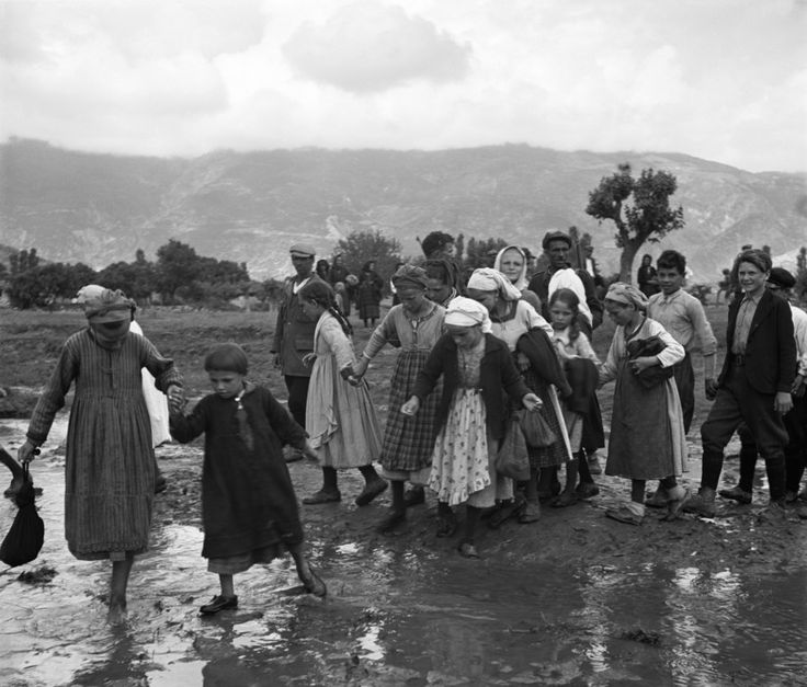 David Seymour  Refugees from the civil war areas.1948