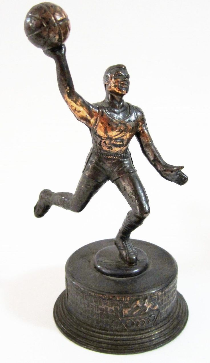 Olympic Basketball Copper Pencil Sharpener Player Metal Bronze Finish Vintage