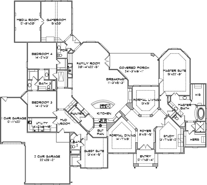 17 best images about single story floor plans on pinterest for Single floor country house plans