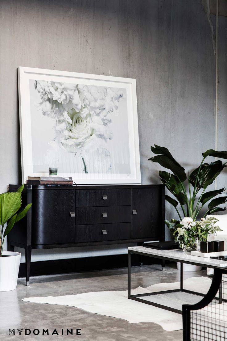 See inside Gritty Pretty's new HQ: http://grittypretty.com/style/office-tour-gritty-pretty-headquarters/  Buffet: Globe West Artwork: Vicki Lee & Ted O'Donnell