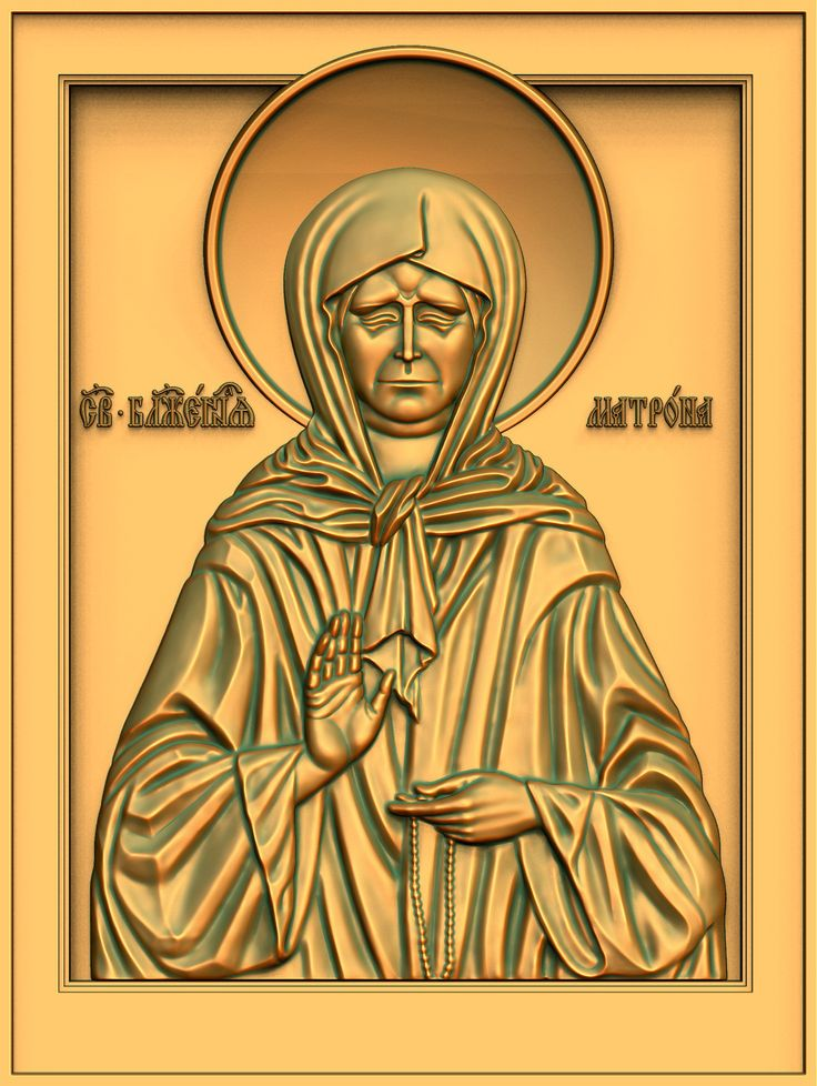 St. Matrona Moscow. Option I. 3D model for CNC milling machine. Simulation programs: MoI, ArtCam, ZBrush. Private order.