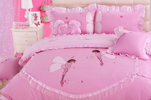 For Your Lil Princess - Make your little princess' room the way she wants it to look with this pink colored bedsheet. #krtifab brings you the Pink Colored bedsheet for your lil princess. Visit us at https://www.facebook.com/KrtiF