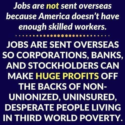 Sadly, this is exactly how it happens. Corporate greed causes more job loses than any other economic influence.