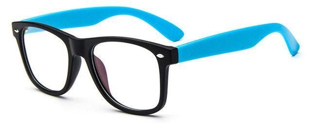 SHAUNA Classic Men Thick Square Eyewear Women Nail Decration Metal ...