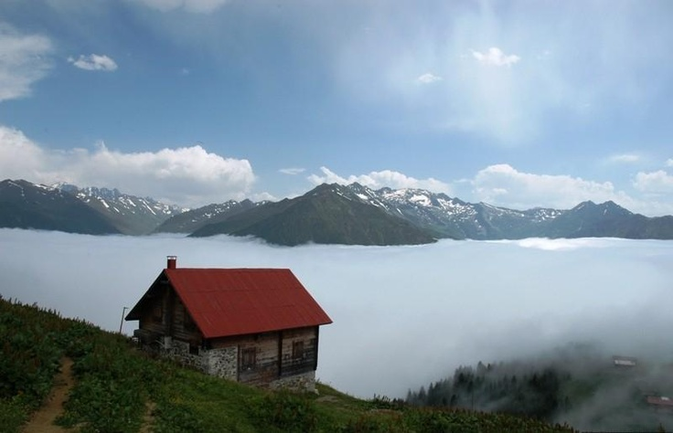 Clouds and nature..Ayder Plateau Rize Province Turkey