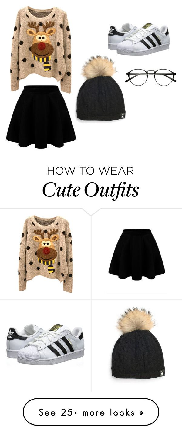 """""""Christmas outfit"""" by kikaymaleriado on Polyvore featuring adidas Originals"""