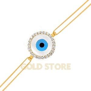 14 Ayar Altın Sedef Göz Bileklik GB21002