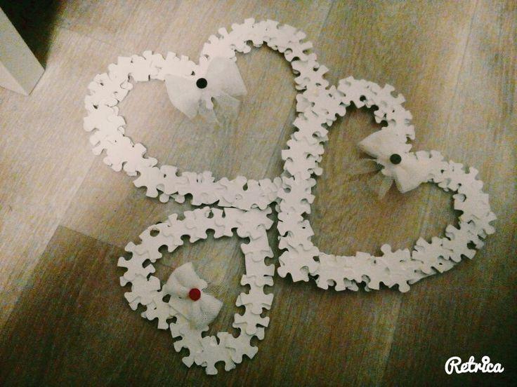 Srdíčka z puzzlíků
