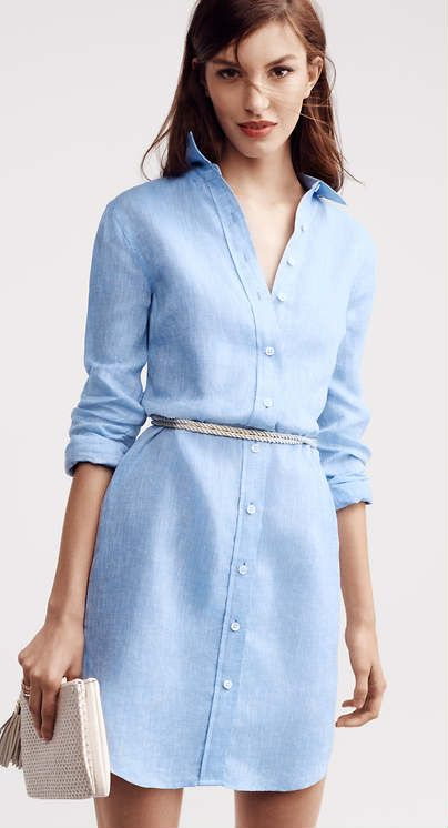 25  best ideas about Blue shirt dress on Pinterest | Heels outfits ...