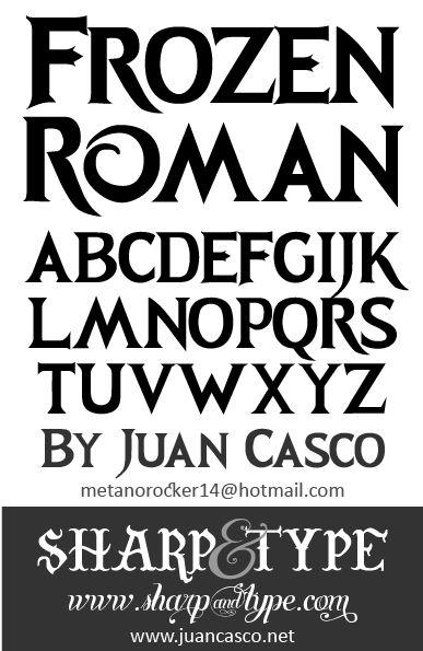 New Font : Frozen Roman Font | Fonts by Juan Casco