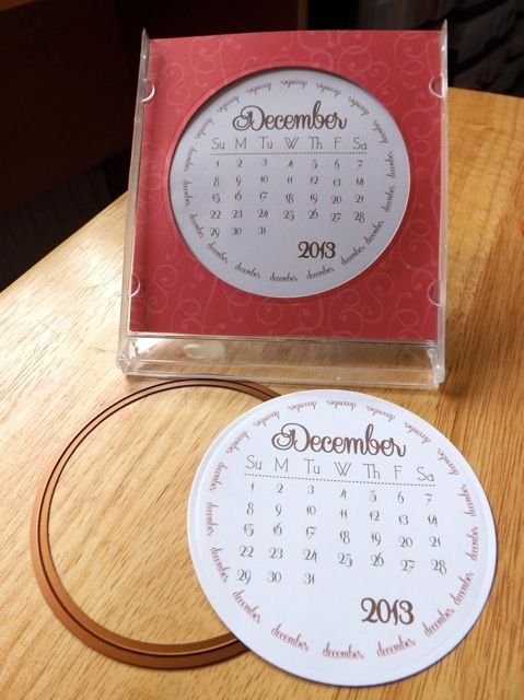 A different take on the CD calendar – circles   Scrappy Sticky Inky Mess