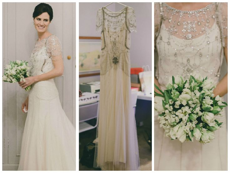 Vestido vintage para noiva com brilho - Foto Duo Borgatto
