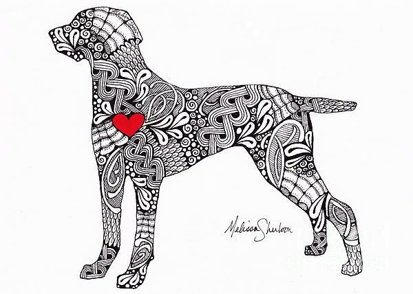 Dog Silhouette Zentangle Idea Dog Grooming For Beginners Pets Are People Too In Home Dog Grooming Do It Yourself Dog Dog Art Weimaraner Zentangle Animals