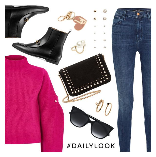 """""""Daily Look"""" by dressedbyrose ❤ liked on Polyvore featuring J Brand, River Island, Gucci, MANGO, Forever 21, Witchery, Tommy Hilfiger, LIU•JO, ootd and Dailylook"""