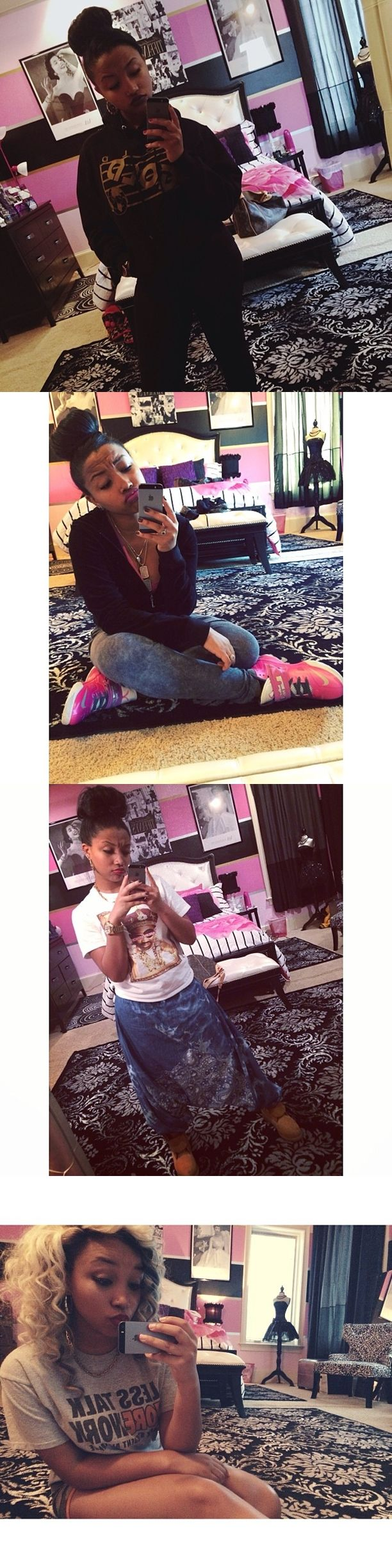 Zonnique Pullins Room - Super cute - OMG Girlz - T.I and Tiny's Daughter - Teen Bedroom - Chic - Young Adult