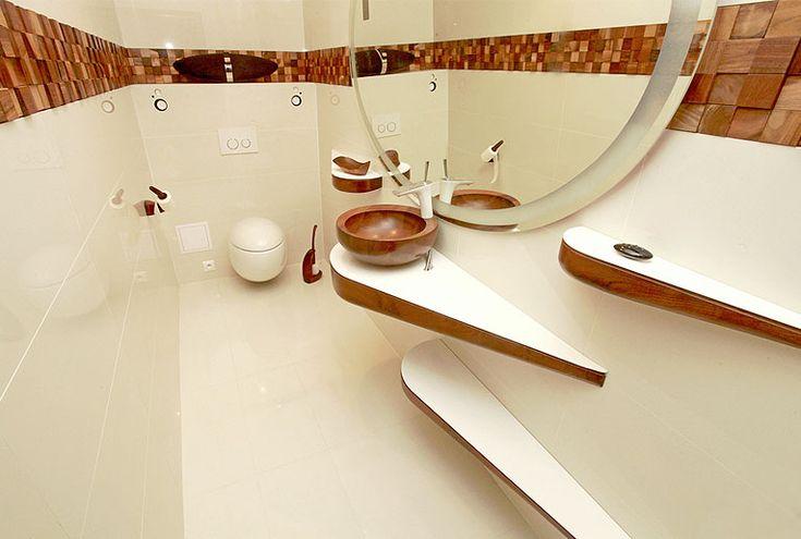 Dřevěné umyvadlo PERLE http://podlahove-studio.com/content/40-drevene-koupelny-drevene-vany-a-umyvadla
