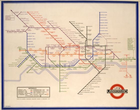 one of the original London Underground maps