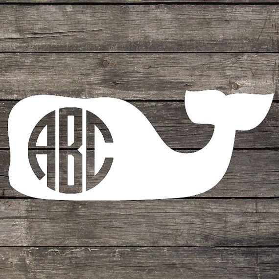 Vineyard Vines Inspired Personalized Monogram Vinyl Decal