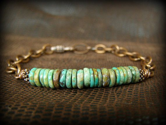 Turquoise Bracelet Mens Bracelet Chain by StoneWearDesigns, $48.00......hmmmph it says it is for Men...but idk about that!