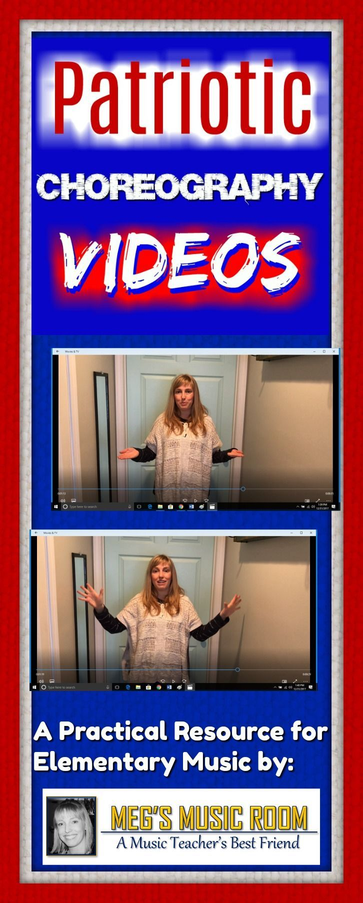 "Easy choreography for 3 popular patriotic songs - ""America (My Country 'Tis of Thee),"" ""America, the Beautiful"" and ""You're a Grand Old Flag."" Great for elementary music class for programs and patriotic celebrations. #MusicTeacher #musicteachers #elementarymusic #ElementaryMusicTeacher #dance #choreographer"