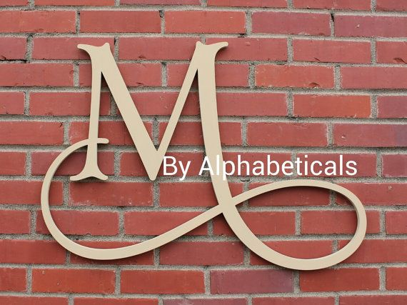 Initial Monogram Wall Decor Wooden Monogram by Alphabeticals, $25.00