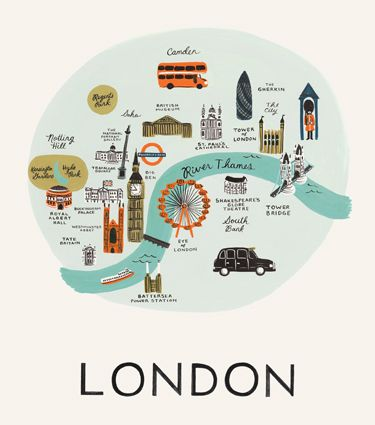 Illustrated London (Rifle Paper Co) Find out more about real london: http://www.citiestalking.com/cities/london/