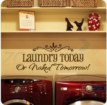 lavanderia hoje ou amanhã nua zooyoo8032 citação parede decalques adesivo decorativo de parede adesivos de parede vinil removível em Papéis ...