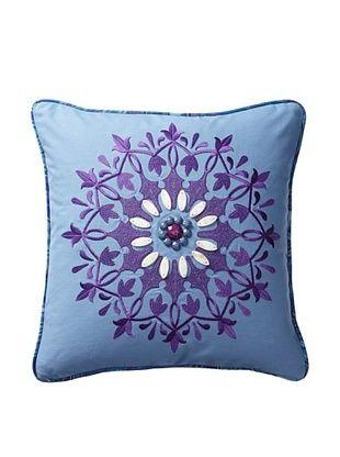 50% OFF Echo Jakarta Decorative Pillow, Chambray Blue/Purple