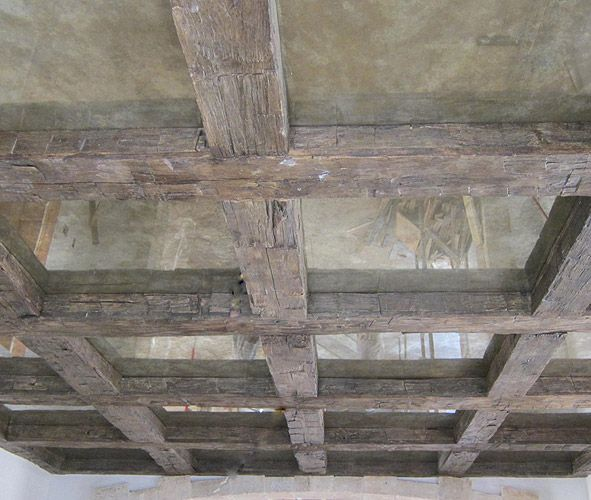 oak hand hewn beam coffered ceiling residence awesome
