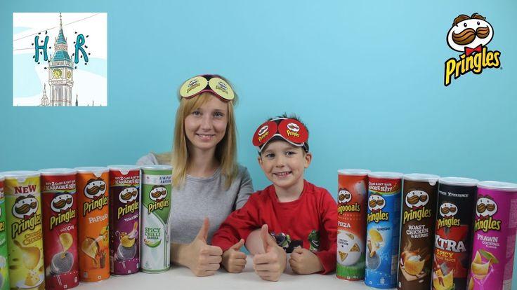 Кушаем Острые Чипсы Принглс Челлендж с мамой  Pringles challenge! 11 Fla...